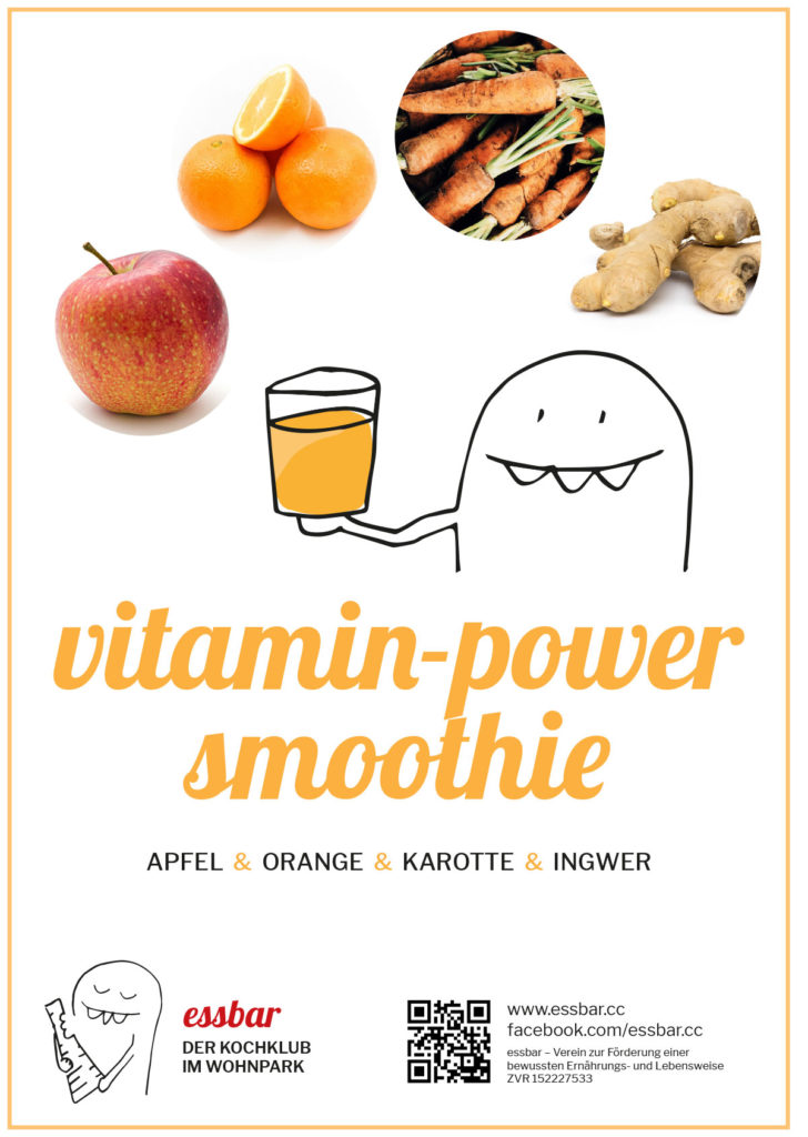Vitamin-Power-Smoothie: Apfel, Orange, Karotte, Ingwer